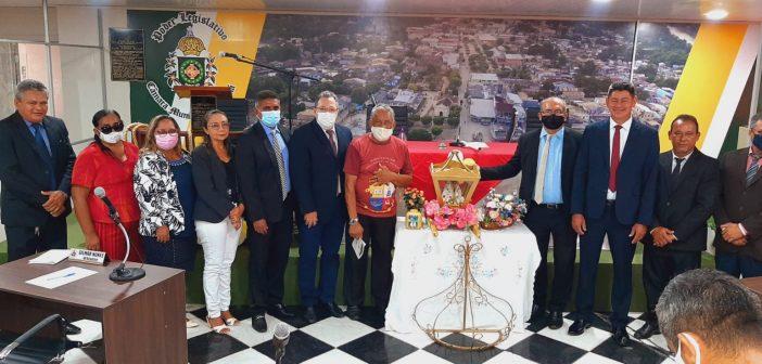 Visita da Santa Peregrina de Nossa Sra. de Nazaré na Câmara Municipal de Muaná. Recebida por Todos os Vereadores e Vereadoras do Legislativo